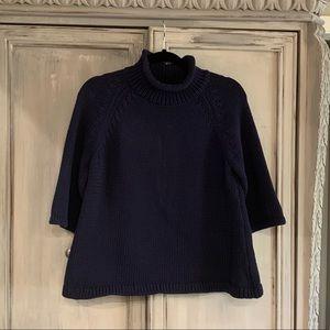 NWOT Ann Taylor LOFT Blue Navy Sweater Sz L